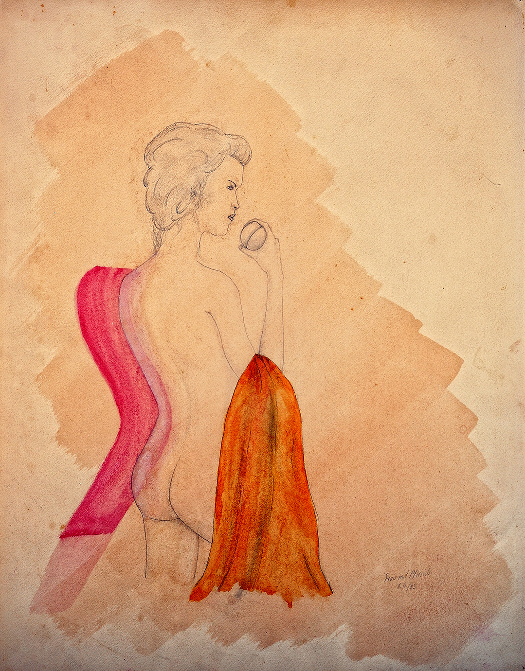 Achim Großmann – Künstler - ArsCubis - Frau mit Pfirsich